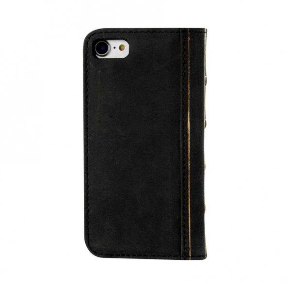 Wachikopa Apple iPhone 7 / 8 Hakiki Deri Kılıf Book Case Cecile S