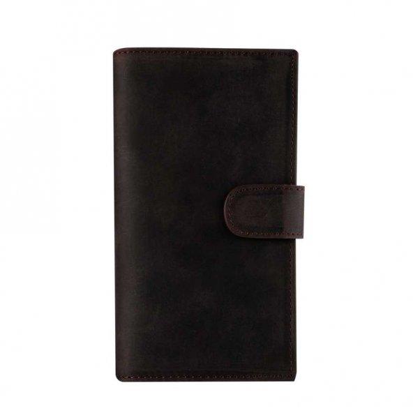 Wachikopa Samsung Galaxy S8 Hakiki Deri Kılıf Double Wallet Eva A