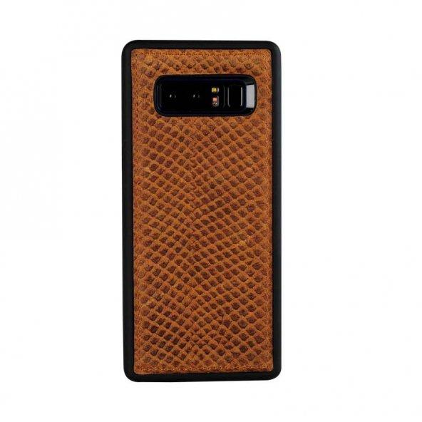 Wachikopa Samsung Note 8 Hakiki Deri Kapak Back Cover Honey Kahve