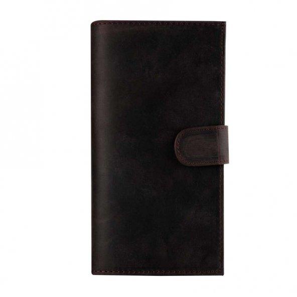 Wachikopa Samsung Note 8 Hakiki Deri Kılıf Double Wallet Eva Anti
