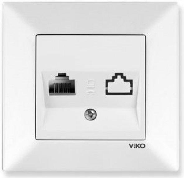 Viko Meridian Numeris Telefon Prizi (RJ11) (Çerçeve Hariç) - Beya