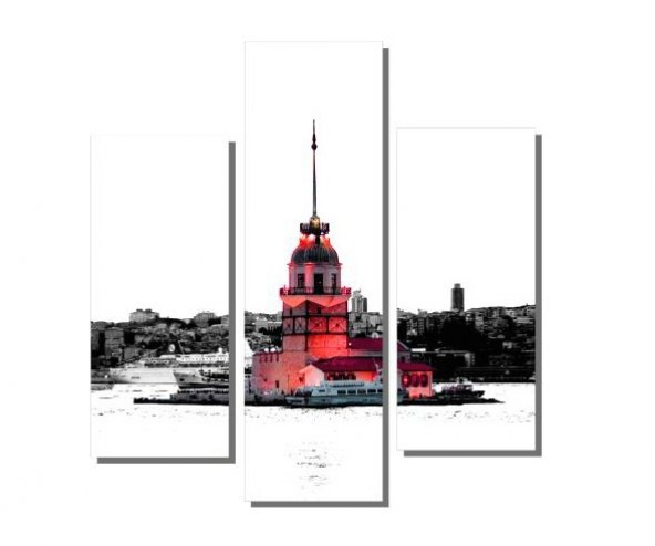 Kırmızı Kız Kulesi ve Martı Tablosu