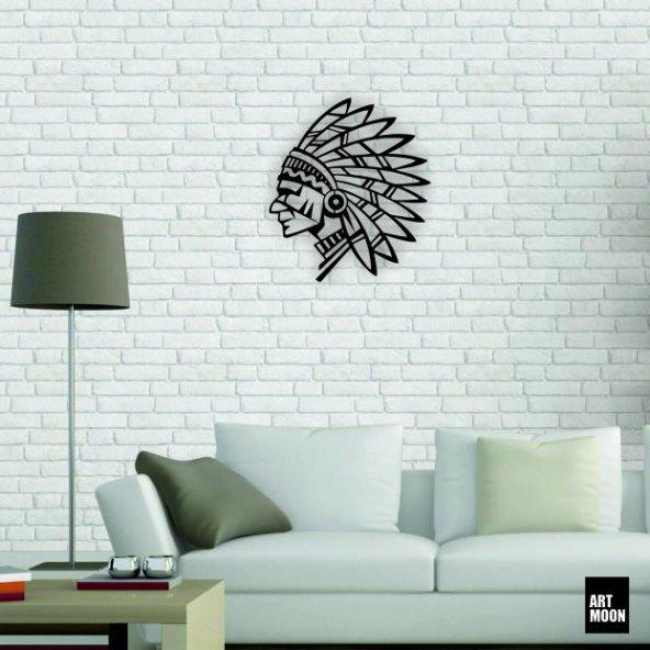 Kızılderili Metal Tablo Duvar Dekoru