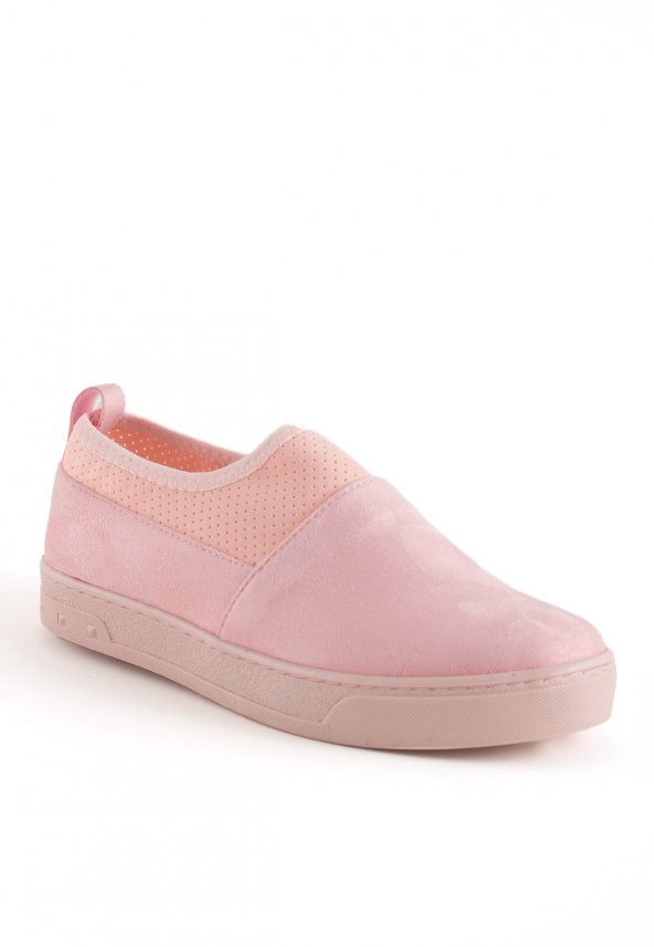 Piera Pudra Süet Bayan Babet Ayakkabı