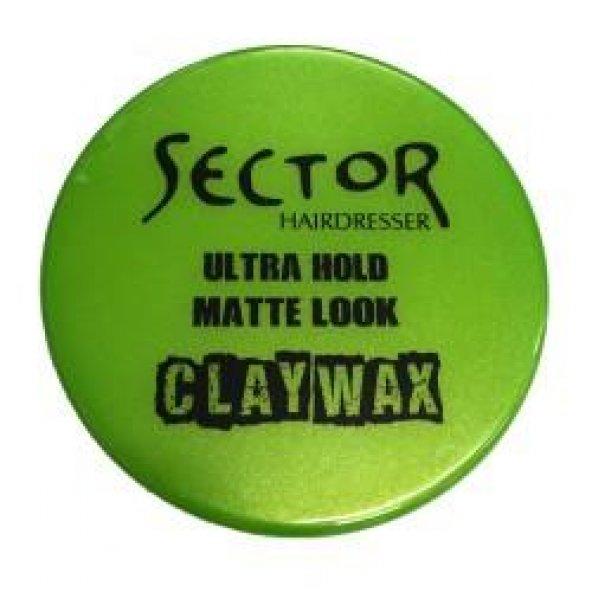 Sector Süper Wax Fix Mania Matte Look Yeşil Clay