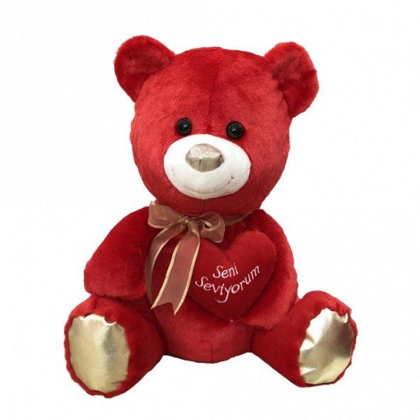 Kalpli Ayıcık 50 cm Kırmızı