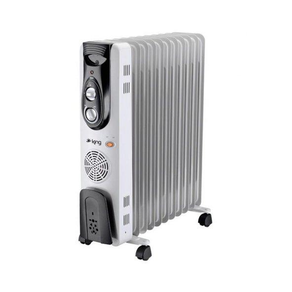 King K 6270 Hava Nemlendiricili 11 Dilim Yağlı Radyatör 2500 WATT