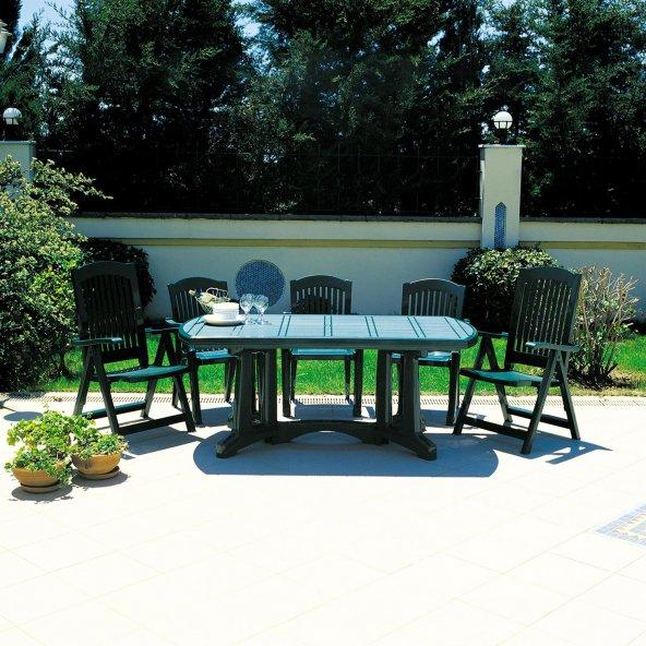 Siesta Klasik 6 Kişilik Bahçe Balkon Teras Masa Takımı
