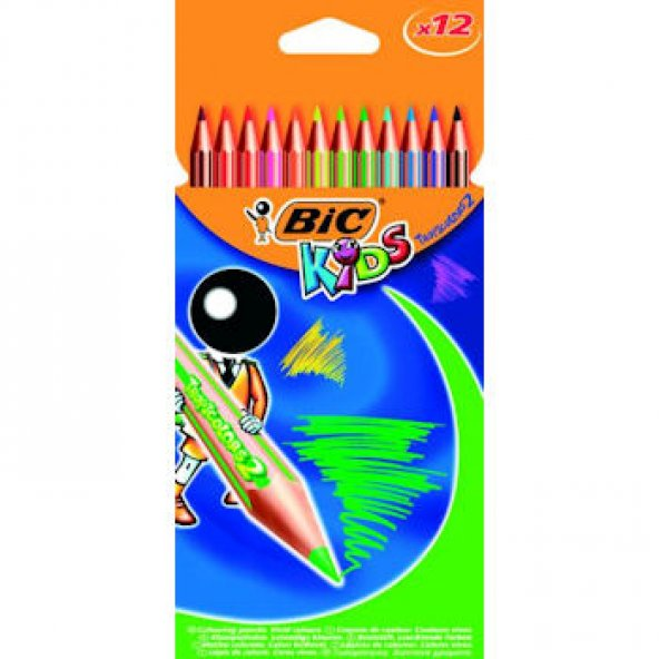 Bic Kids Tropicolor Kuru Boya Kaemi 12 Renk