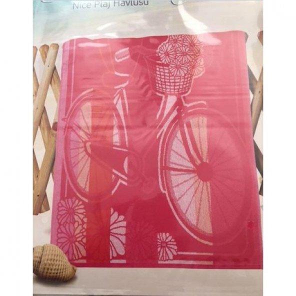 Özdilek Pink Bicycle  Nice Plaj Havlusu 70x150 xM