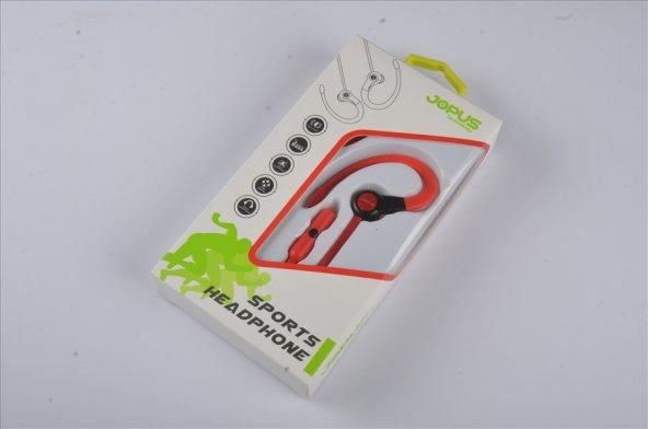 Jopus Mikrofonlu Kulaklık Seti Kırmızı Sport JO-SP05