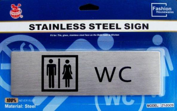 WC Tuvalet Metal Yönlendirme Bay-Bayan