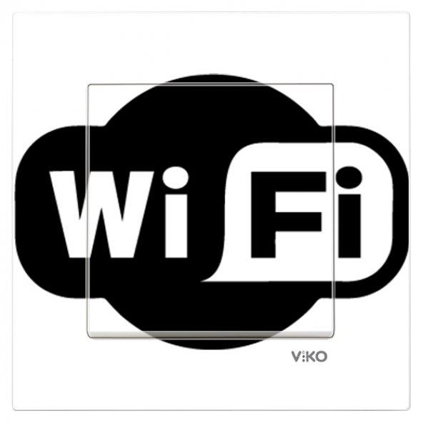 Dekoratif UV Baskılı Elektrik Düğmesi-Priz-Kapı Zili Wifi Logo