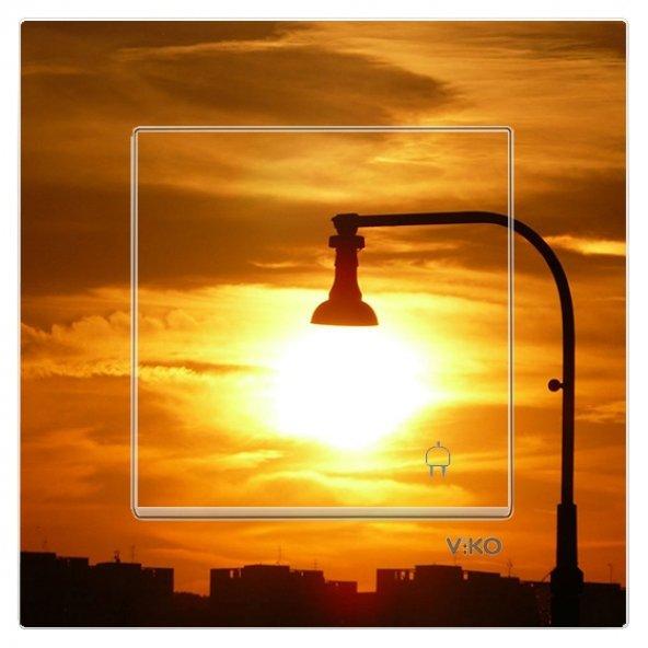 Dekoratif Baskılı Elektrik Düğmesi-Priz-Kapı Zili Sokak lambası