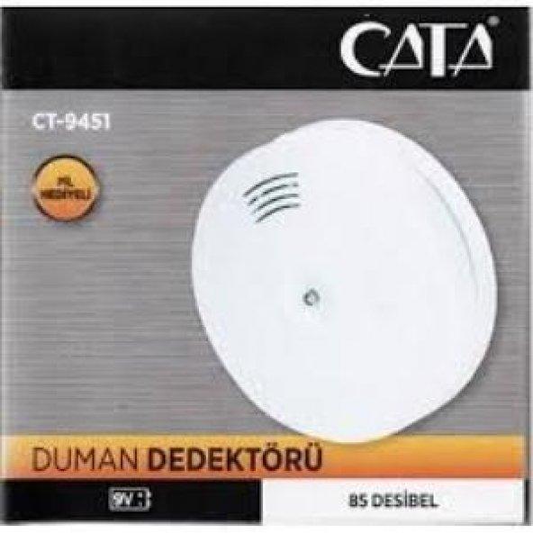 Cata 9451 Kablosuz Duman Dedektörü 9V Pilli