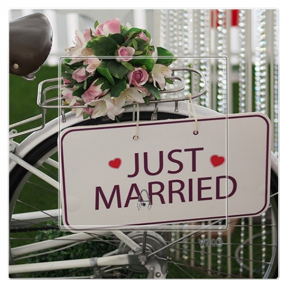 Dekoratif Baskılı Elektrik Düğmesi-Priz-Kapı Zili Yeni Evli