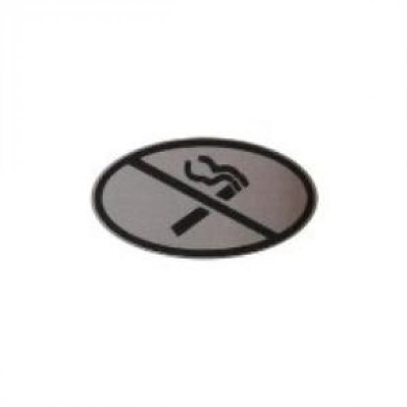Oval Küçük Sigara İçilmez Yönlendirme Levhası Paslanmaz Çelik