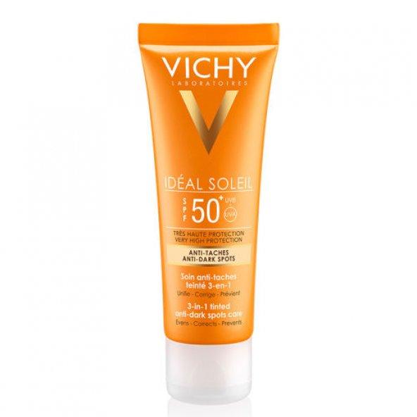 VICHY İDEAL SOLEIL ANTI-DARK SPOTS SPF50 50ML-ÇOK YÜKSEK KORUMAL