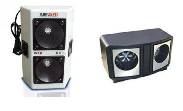 Teknopest TP 100 Ultrasonik Fare Kovucu Haşere Kovucu - Dual An 319 Fare ve Haşere Kovucu