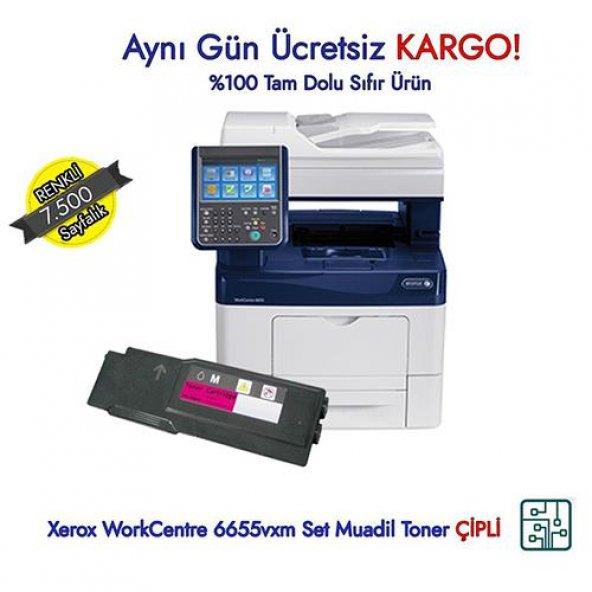 Xerox WorkCentre 6655vxm Kırmızı Muadil Toner - 106R02753