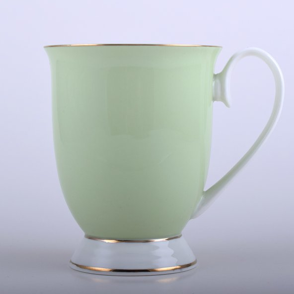 Altın Yaldız Minimalist Porselen Yeşil Kupa