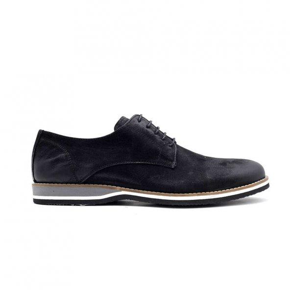 Luciano Bellini 152009 Erkek Günlük Ayakkabı-Siyah Nubuk