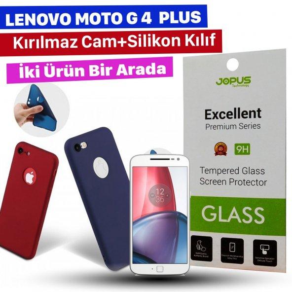 Jopus Lenovo Moto G4 Plus Kılıf + Temperli Kırılmaz Ekran Koruyucu