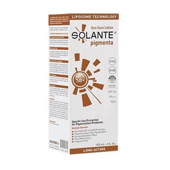 Solante Pigmenta SPF 50+ Güneş Koruyucu Losyon