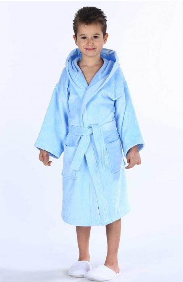 Özdilek Boy Traffic 7-8 yaş Erkek Çocuk Bornozu Mavi