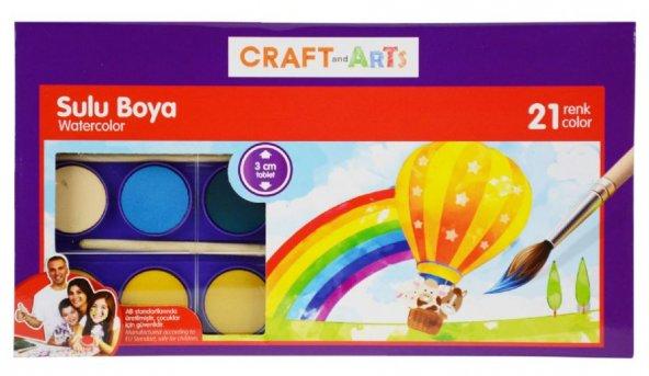 Craft and Arts Sulu Boya 21li Standart