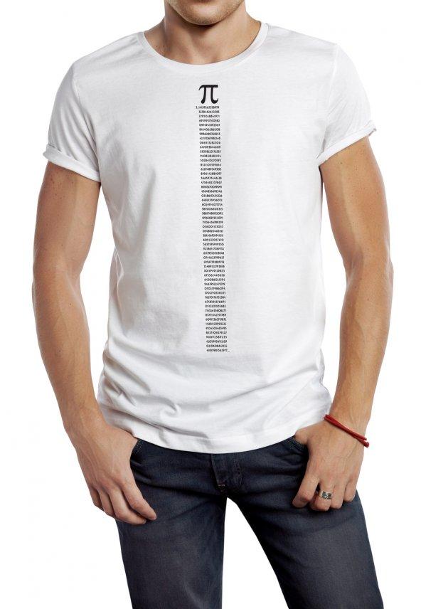 Pi Temalı Erkek Tişört