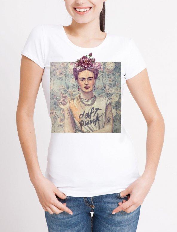 Daft Punk Temalı Bayan Tişört