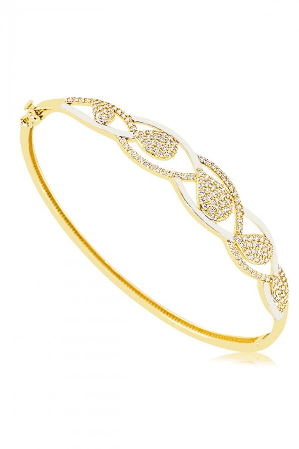 Cigold 14 Ayar Taşlı Kelepce K1KLP000444