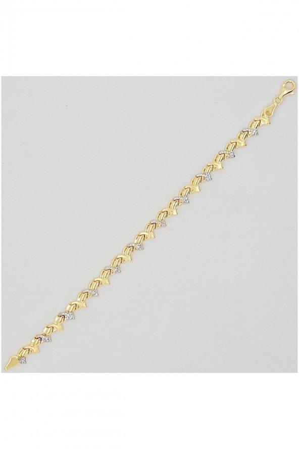 Cigold 14 Ayar Taşsız Bileklik K1BİL0639000735
