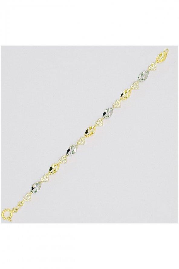 Cigold 14 Ayar Taşlı Bileklik K1BİL0552000745