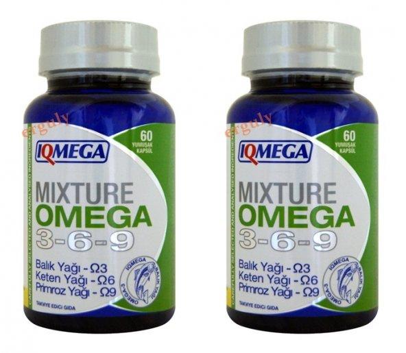 IQMEGA Omega 3.6.9- 60 Softgel -2 kutu