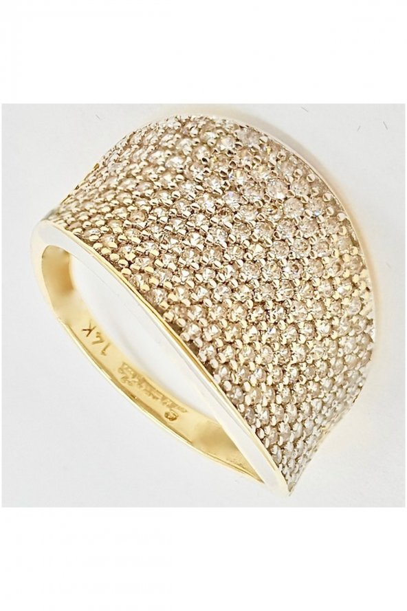 Cigold 14 Ayar Taşlı Yüzük K1YZK0354000875