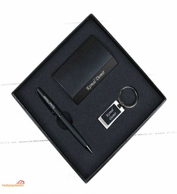 Kişiye Özel Kartvizitlik Kalem Anahtarlık Seti