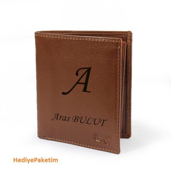 İsme Özel BK Leather Deri Erkek Cüzdanı (HP-369)
