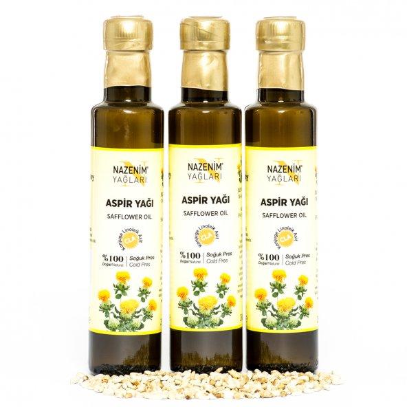 Nazenim Aspir Yağı Cla 250 ml 3 Adet Soğuk Pres %100 Saf