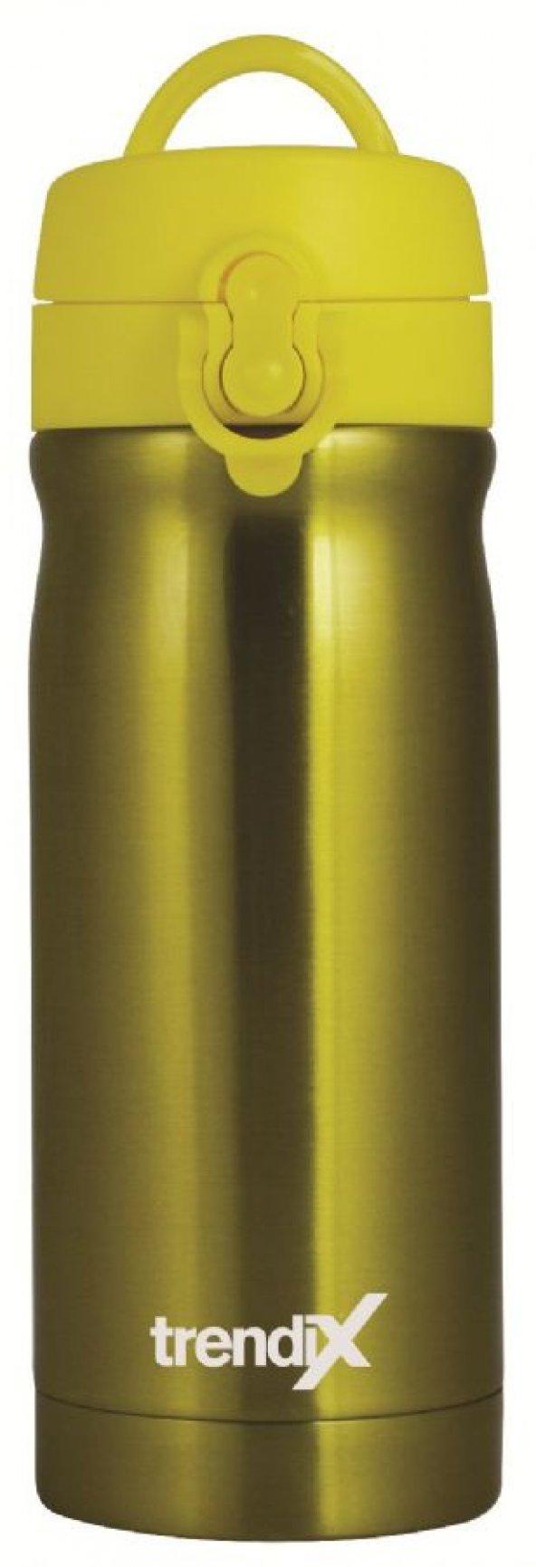 Trendix Çelik İçli 350 ml Termos Matara (Neon Sarı)