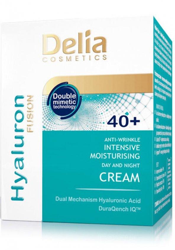 Delia Hyaluron Kırışıklık Karşıtı 50Ml Gece ve Gündüz Kremi 40+