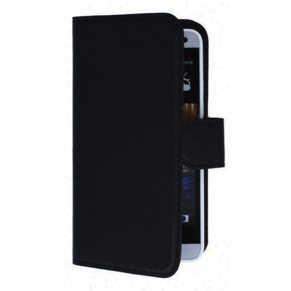 Samsung J6 (J600) Yan Kapaklı Cüzdanlı Kartlıklı Kılıf Siyah