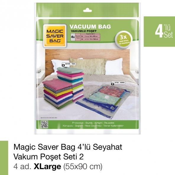 MAGIC SAVER BAG 4lü Vakumlu Poşet Seti 2