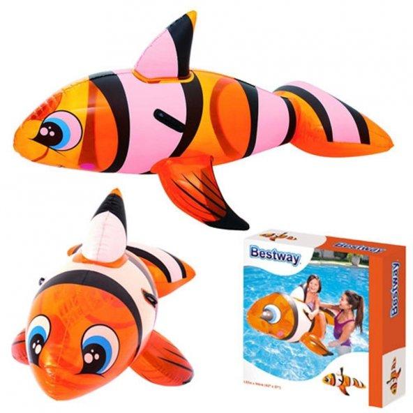 Pompa HEDİYE-Bestway Lisanslı - Büyük BOY Tutmalı Sevimli Balık NEMO Havuz & Deniz Binici -41088