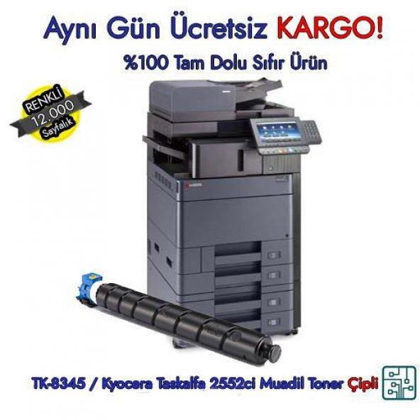 TK-8345 / Kyocera Taskalfa 2552ci Mavi Muadil Toner