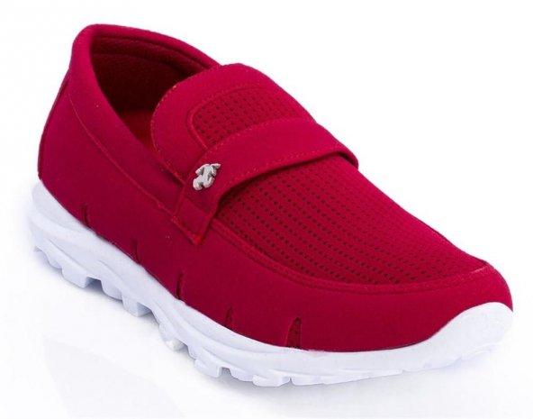 STR Kırmızı Renk Günlük Ayakkabı