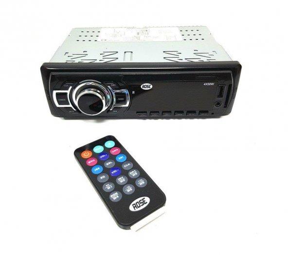 ROSE DC-4150 Radyolu Kumandalı MP3-USB-SD Oto Teyp