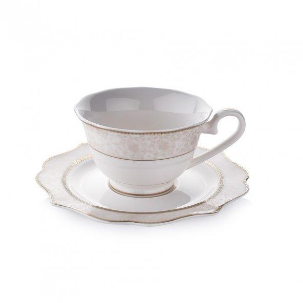 Schafer 12 Parça Dantella Çay Fincan Takımı - GLD01