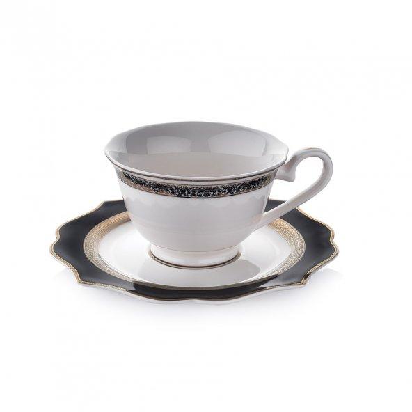 Schafer 12 Parça Dantella Çay Fincan Takımı - SIY01